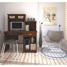 bestar active 1 drawer computer desk tuscany brown desks