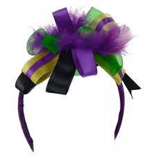 mardi gras headbands mardi gras ribbon feather headband 38679 craftoutlet