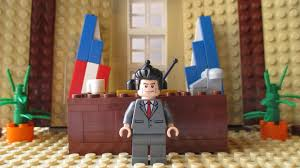 president ronald reagan in the oval office lego