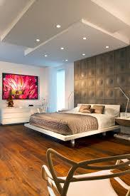 Platform Bed With Floating Nightstands Delightful Platform Bed With Nightstand Floor Lamp Rustic Headboard