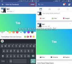 membuat facebook yg baru cara cepat membuat update status di facebook background berwarna