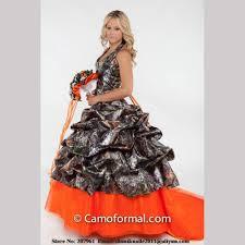 orange camo wedding dresses 2015 halter camouflage bridal gown