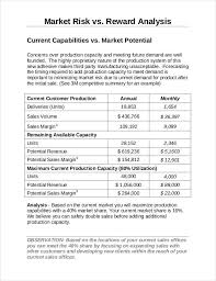 market analysis template 5 free word pdf documents download