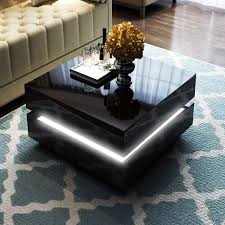 Coffee Tables With Led Lights Coffee Table Ledffee Table Lights Interactive With Imposing