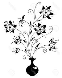 Vase Drawing Simple Flowers Drawing Bouquet Of Flowers In A Vase Drawing
