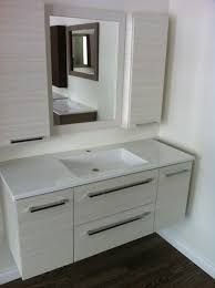 bathroom white floating vanity cabinets with sink vanity and
