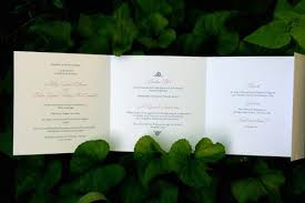tri fold wedding invitations colin s sweet trifold wedding invitations