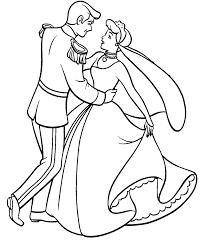 cinderella dance prince coloring cinderella