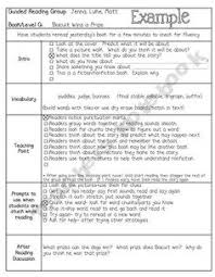 small group guided reading lesson plan template love this format