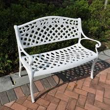 metal garden furniture outdoor bench