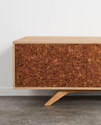 Tv Bench Oak Kork Entertainment Unit By Felix Furniture Handkrafted