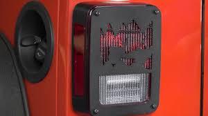 jeep wrangler brake light cover kentrol jeep heritage tail light covers for jk wrangler installation