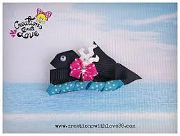 whale ribbon whale ribbon sculpture hair clip ribbon sculptures