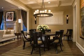 miami 60 inch square dark dining room contemporary with beige