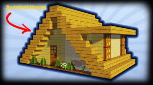 A Frame House by Minecraft How To Build A Small A Frame House Tutorial Easy