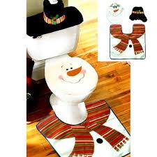 wholesale new xmas home decoration lovely snowman toilet seat