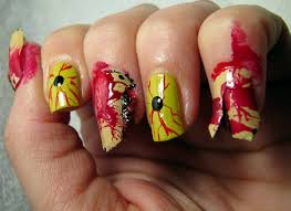 zombie nail art designs 2017 for halloween step by step at home