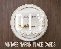 wedding napkins how to make personalized vintage napkins rustic wedding chic