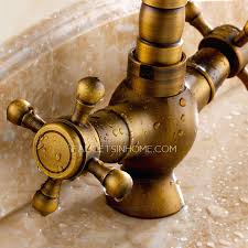 antique brass kitchen faucets mesmerizing antique brass kitchen faucet churichard me
