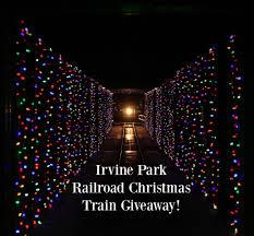 christmas lights train ride create memories aboard the irvine park railroad christmas train