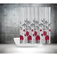 Shower Curtains With Red Amazon Com House Decor Shower Curtain Set By Ambesonne Sakura