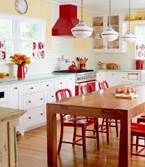 Red Kitchen White Cabinets Top 25 Best Red Kitchen Accents Ideas On Pinterest Red And