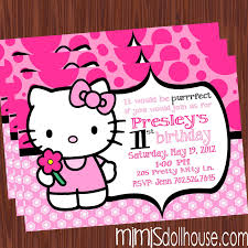 hello kitty invitation light pink mimi u0027s dollhouse