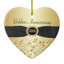 anniversary ornament 50th wedding anniversary christmas ornament zazzle