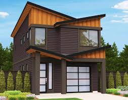 modern narrow house narrow lot modern house plan 85099ms architectural designs