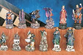 fantasy chess set painted fantasy chess pieces