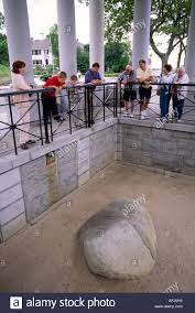 plymouth rock in the town of plymouth massachusetts usa recalls