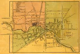 New York Map Rochester by 1853 Cayuga County Ny Map
