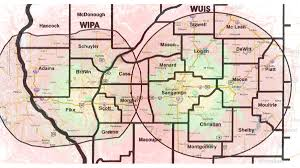 Lincoln Illinois Map by Coverage Map Npr Illinois