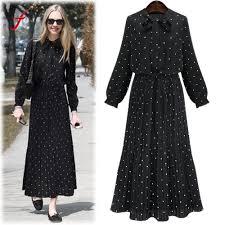 aliexpress com buy 2017 autumn vintage dot dress women long