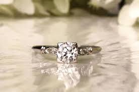 antique engagement ring 0 60ct transitional cut diamond art deco