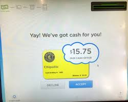 sell e gift cards convert gift cards into with coinstar exchange kiosks