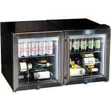 mini bar refrigerator glass door twin glass door alfresco triple glazed bar fridge combination