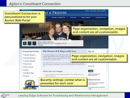 alumni website software agilon s constituent connection leading edge software for