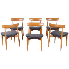 Modern Teak Outdoor Furniture by Danish Teak Dining Chairs By H W Klein For Sale At 1stdibs