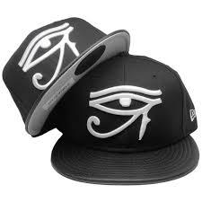 eye of horus era custom 59fifty fitted hat black pebble