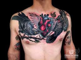 colorful chest anotomical and ravens by
