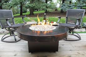 Gas Firepit Tables Outdoor Gas Pit Table And Chairs Design And Ideas