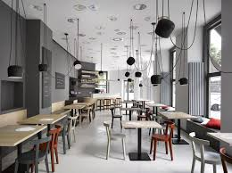 Cafe Interior Design Cafe In Prague Proves Minimalist Interiors Can Be Playful Freshome