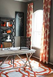 Orange Panel Curtains Incredible Figure Thank You Grey Paint Ideas For Living Room