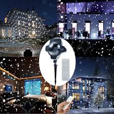 snowfall projector light snowflake projection