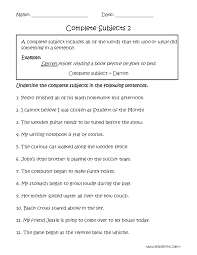 20 best images of 5th grade and subject predicate worksheets