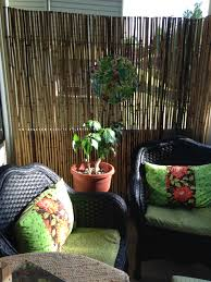Bamboo Blinds For Porch by Easy Makeover Using Bamboo Fencing For Privacy Spray Paint On