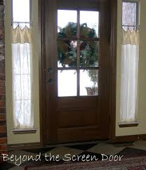 Front Door Window Curtain Breathtaking Curtain Rod Front Door Pictures Best Inspiration