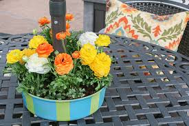 Patio Table Decor Patio Table Umbrella Centerpiece