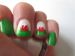 welsh dragon nail art decal stickers